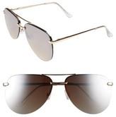 Quay Women's The Playa 64Mm Aviator Sunglasses - Black/ Pink