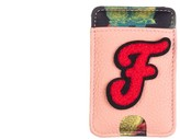 Laines London Customised Leather Card Holder Sticker - Pink / Red