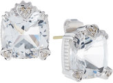 Judith Ripka Fontaine Cushion-Cut Crystal Button Earrings