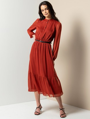 Ever New Francis Tiered Midi Dress