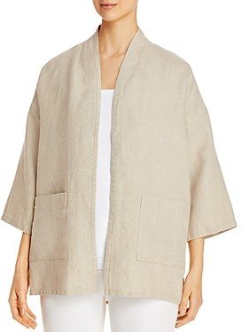 Eileen Fisher Linen Open-Front Jacket