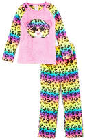 Intimo TY Beanie Boo Pink & Yellow Dotty Raglan Pajama Set - Girls