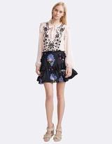 Cynthia Rowley Silk Multi Ruffle Skirt