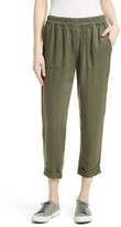 Joie Women's Saphine Pull-On Twill Roll Cuff Pants