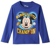 """Disney Disney's Mickey Mouse Toddler Boy """"Mommy's Little Champion"""" Long Sleeve Tee"""