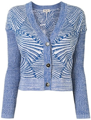 Baum und Pferdgarten Cookie Tiger Shell-pattern cotton cardigan