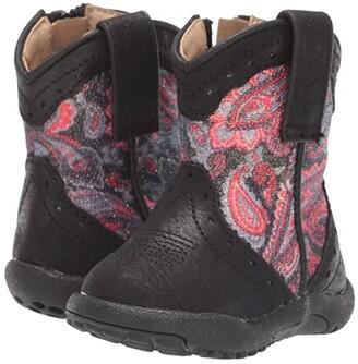 Roper Glitter Geo (Infant/Toddler) (Black Vamp/Paisley Glitter Shaft) Cowboy Boots