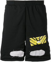Off-White perforated shorts - men - Polyester - XXS