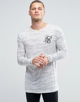 SikSilk Neppy Long Sleeve T-Shirt With Fish Tail Hem