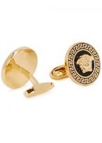 Versace Gold Tone Round Medusa Cufflinks