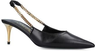 Tom Ford Leather Chain Slingback Heels 85