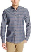 Dockers Long Sleeve Horizontal Tonal Stripe Chambray Cotton Shirt