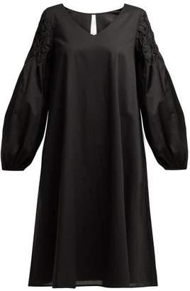 Merlette New York Black Cotton Smock Dress - Womens - Black Gold