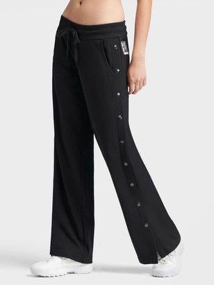DKNY Wide Leg Jogger With Snap Placket