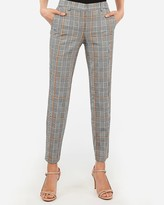 Express Mid Rise Plaid Columnist Ankle Pant
