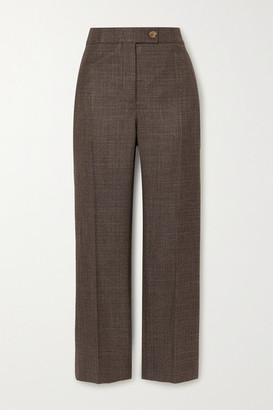 CASASOLA + Net Sustain Treviso Silk And Cashmere-blend Straight-leg Pants - Gray