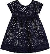 Baby CZ CUTOUT DRESS & BLOOMERS SET-NAVY SIZE 24