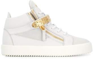 Giuseppe Zanotti side zip hi-top sneakers