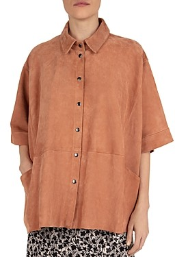 Gerard Darel Gloria Suede Top