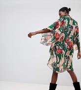 Anna Sui Exclusive Woodblock Flower Longline Kimono