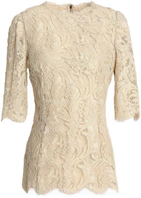 Dolce & Gabbana Cotton-blend Corded Lace Top