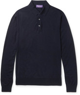 Ralph Lauren Purple Label - Knitted Merino Wool Polo Shirt