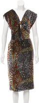 Miguelina Abstract Print Velvet Dress