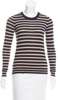 Tory Burch Striped Crew Neck Sweater