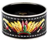 Hermes Extra Wide Enamel Bangle Bracelet