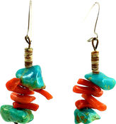 One Kings Lane Vintage Coral & Turquoise Nugget Earrings