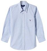 Gant Blue Polka Dot Oxford Shirt