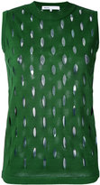08sircus perforated detail sleeveless top - women - Cotton - 36