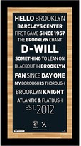 Steiner Sports Brooklyn Nets Subway Sign Wall Art