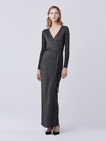 Diane von Furstenberg Evelyn Maxi Knit Wrap Dress