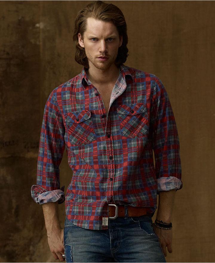 Denim & Supply Ralph Lauren Shirt, Flannel Plaid Shirt