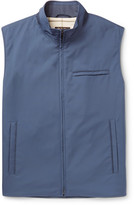 Loro Piana Slim-Fit Suede-Trimmed Quilted Storm System Shell Gilet