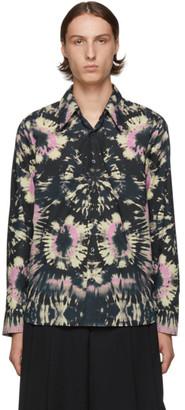 Dries Van Noten Navy Tie-Dye Shirt