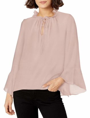 Ellen Tracy Women's Full Sleeve Blouse with Tie