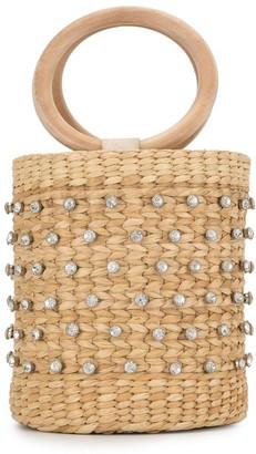 Poolside embellished bucket bag