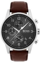 HUGO BOSS 1513494 Navigator Classic, Italian Leather Chronograph Watch One Size Assorted-Pre-Pack