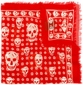 Alexander McQueen skull print scarf - men - Silk/Modal - One Size