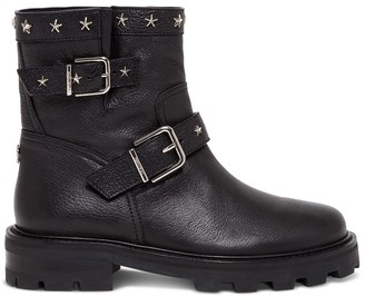 Jimmy Choo Leather Boots With Star Studs