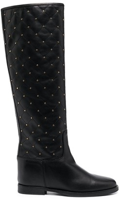 Paul Warmer Studded Leather Boots