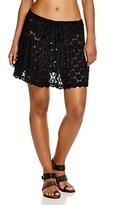 J Valdi Drawstring Dot Lace Skirt Swim Cover-Up