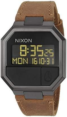 Nixon Men's 'Re-Run' Quartz Leather Watch
