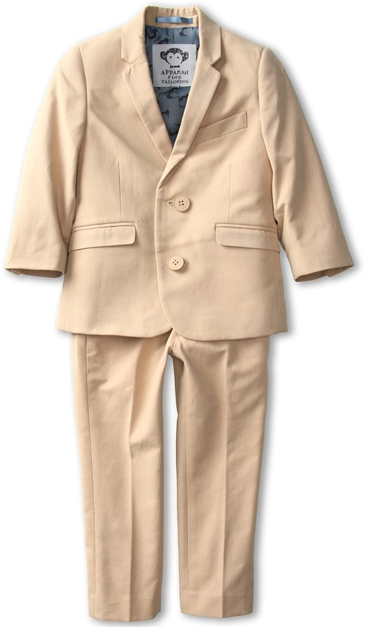 Appaman Kids - Boys' Mod Suit (Toddler/Little Kids/Big Kids) (Khaki) - Apparel