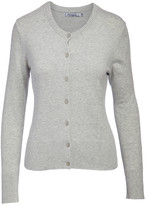 Arpeggio Knitwear Women's Cardigans Light - Light Heather Gray Button-Up Cardigan - Women & Juniors
