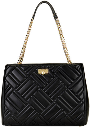 Michael Kors Women's Handbags BLACK - Black Peyton Quilted Leather Tote