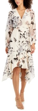 Thumbnail for your product : Taylor Petite Gathered-Waist Midi Dress