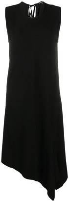 Ann Demeulemeester Asymmetrical Sleeveless Midi Dress